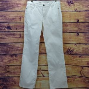 Christopher & Banks white modern fit jeans